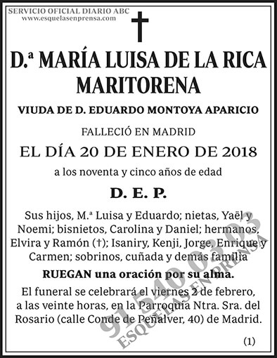 María Luisa de la Rica Maritorena